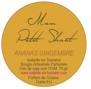 "Candle ""Mon Petit Shoot"". Pineapple and ginger."