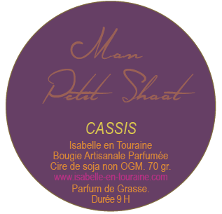 "Candle ""Mon Petit Shoot"". Blackcurrant."