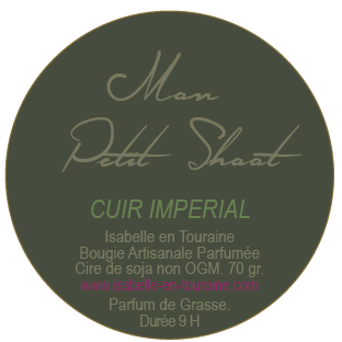 "Candle ""Mon Petit Shoot"". Imperial leather"