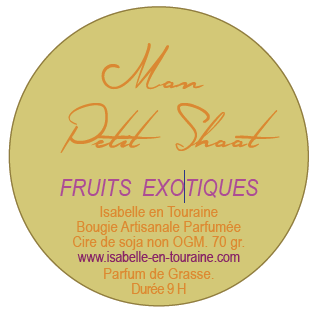 "Candle ""Mon Petit Shoot"". Exotic fruit"