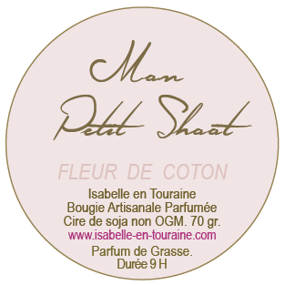 "Candle ""Mon Petit Shoot"". Cotton blossom."