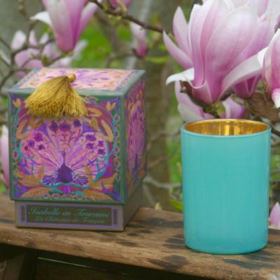Scented candle LES MOISSONS, Black tea and Bergamot