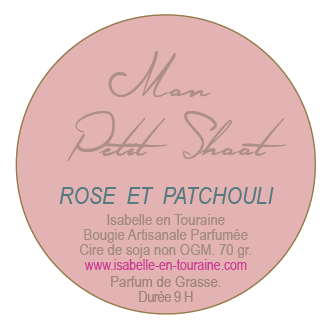 "Candle ""Mon Petit Shoot"". Rose and Patchouli"